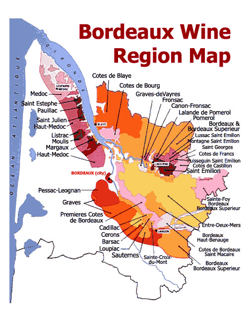 bordeaux wine region map from terroirs travels