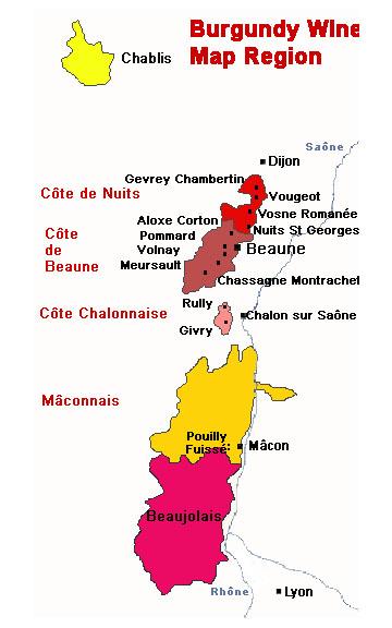 burgundy area wine region map