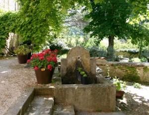 Southern Rhone garden fountain image